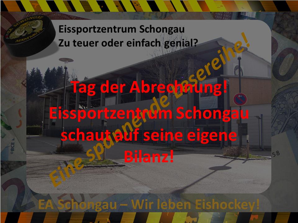 Eissportzentrum Schongau Abrechnung