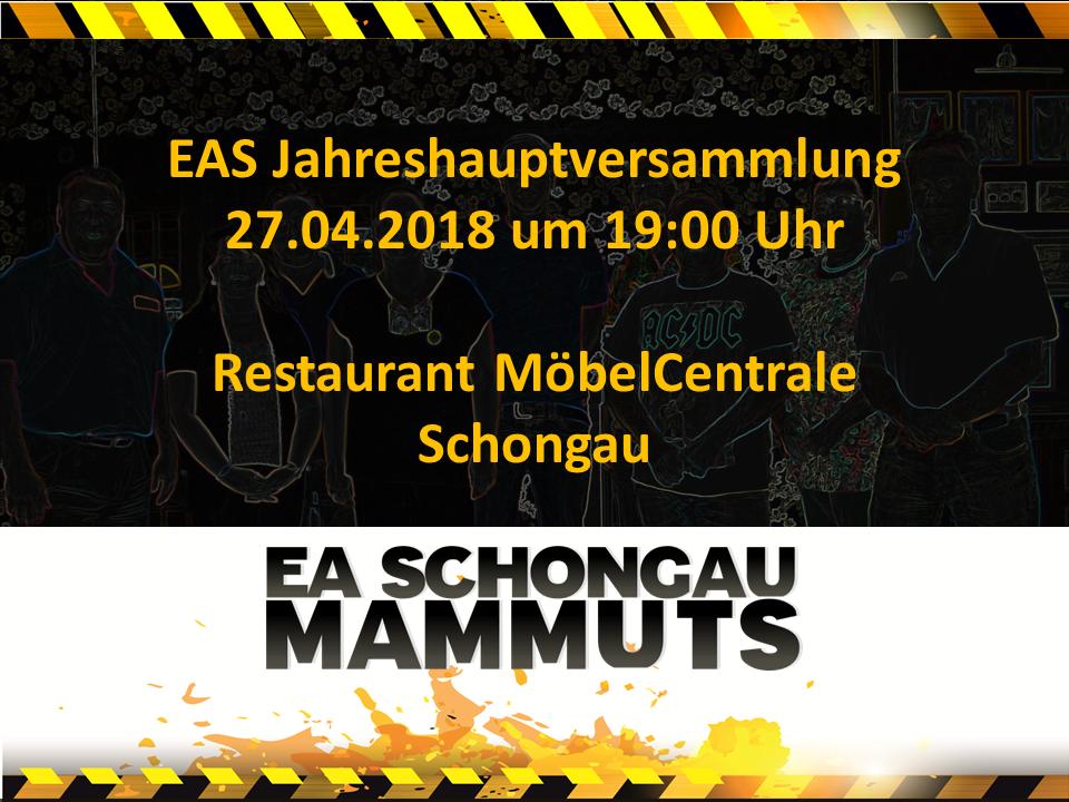 EAS Jahreshauptversammlung